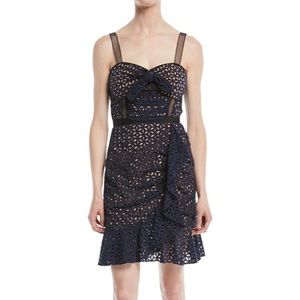 Self-Portrait midnight broderie anglaise dress